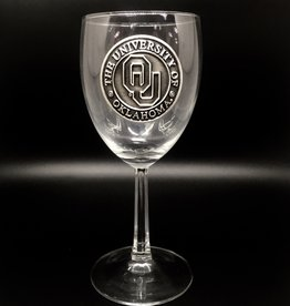 RFSJ OU Pewter Emblem Wine Glass