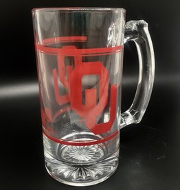 Jag Printed OU 12oz Glass Stein