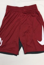 Nike Youth Nike Dri-Fit OU Crimson/Anthracite Color Block Short