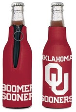 WinCraft Collapsable OU Oklahoma Sooners Zippered Bottle Cooler