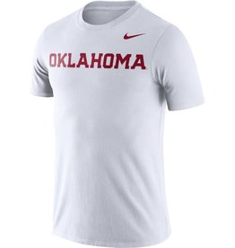 Nike Men's Nike DriFit Cotton White Oklahoma Tee