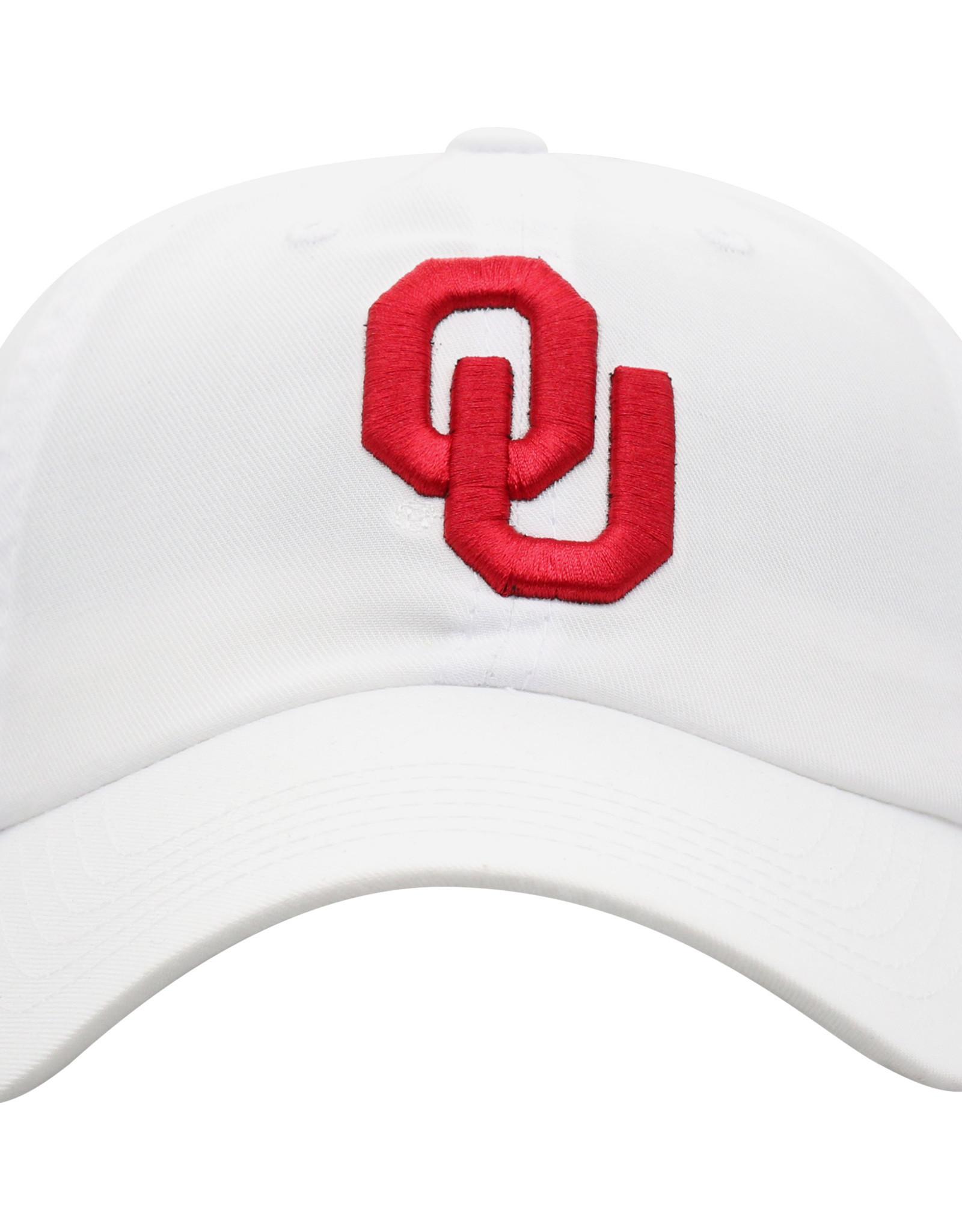 TOW TOW Staple Crimson OU Adjustable White Hat