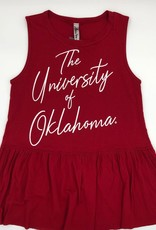 Bamboa Ladies' Bamboa Crimson Oklahoma Pleated Bottom Tank Top