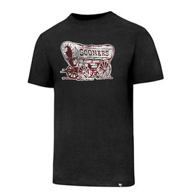 '47 Brand Men's '47 Brand Black Sooner Schooner Knockaround Club Tee