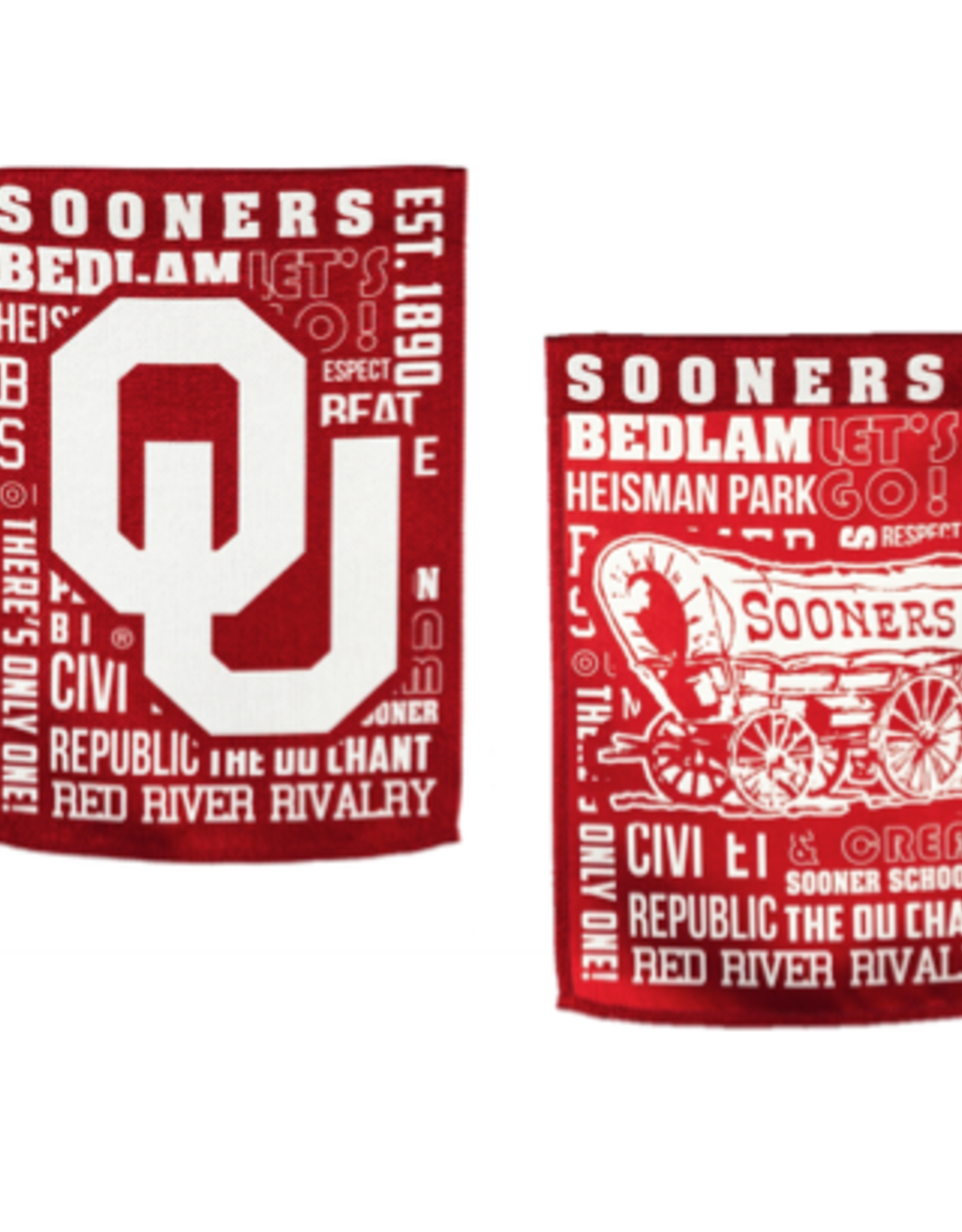 "Team Sports America OU Fan Rules Suede House Flag  44"" x 28"""