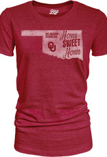 Blue 84 Women's Blue 84 OU Home Sweet Home Tri-Blend Tee Crimson