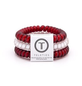 Teleties Crimson & White Teleties-Small  3pk