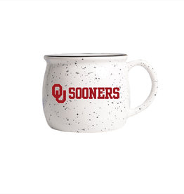 OU Sooners 17oz Speckled White Colonial Ceramic Mug