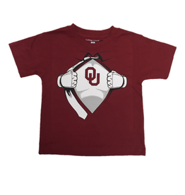 College Kids Toddler OU Superman Tee Crimson