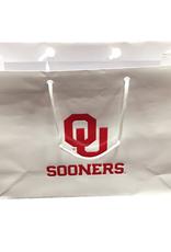 Jardine OU Sooners Glossy White Gift Bag 13x5x10