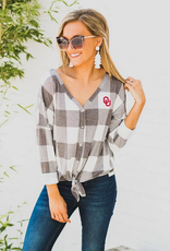 Gameday Couture Gameday Couture Check Your Facts Button-Down Tie Top