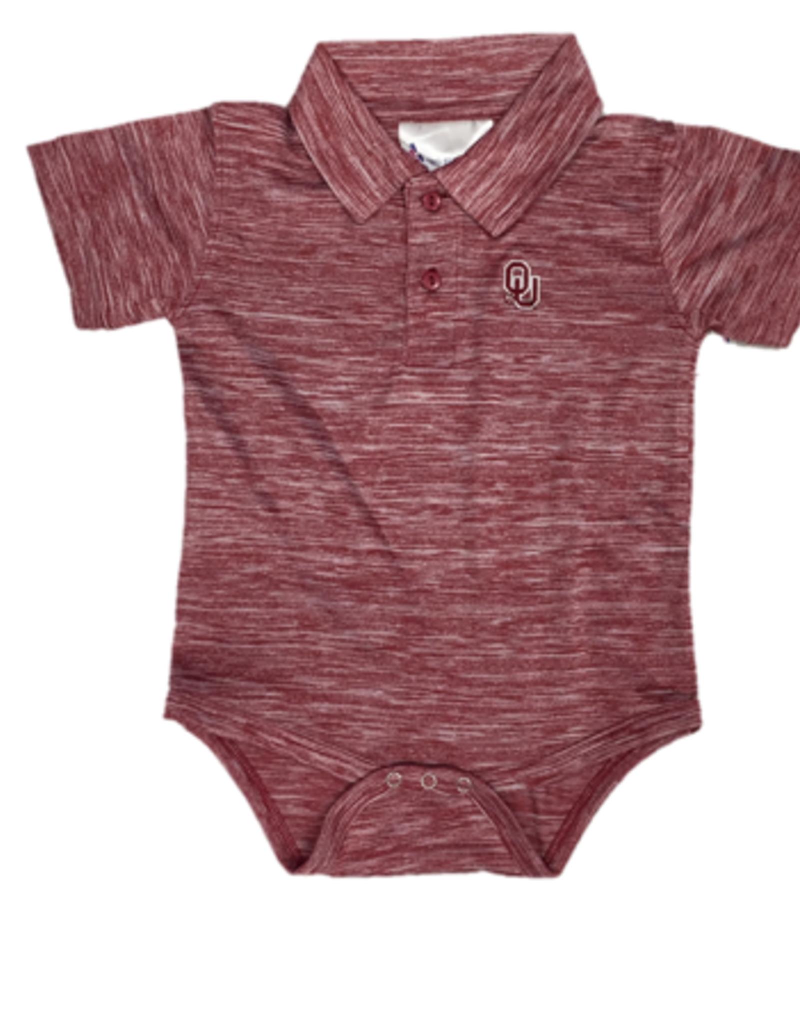 Two Feet Ahead Infant OU Spacedye Crimson Golf Creeper