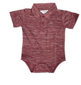 Two Feet Ahead Infant OU Spacedye Crimson Golf Creeper