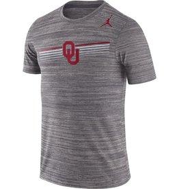 Jordan Men's Jordan Brand Oklahoma Gray Dri-Fit Legend Velocity Tee