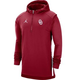 Jordan Men's Jordan OU Pregame Long-sleeve Half-Zip