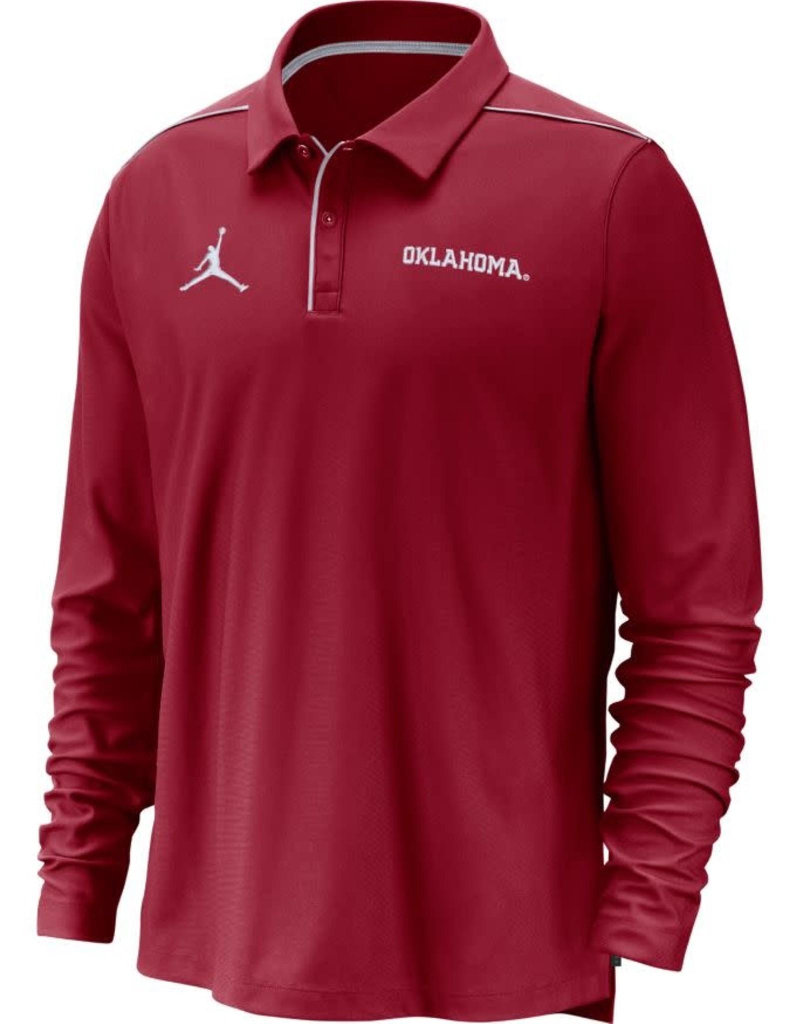 Jordan Men's Jordan OU Crimson Team Issue Long-Sleeve Polo