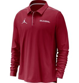 Jordan Men's Jordan OU Crimson Team Issue Long-Sleeve Polo