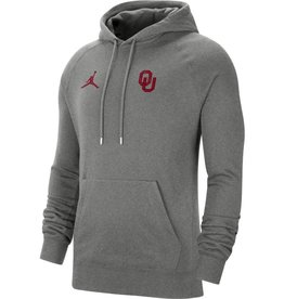Jordan Men's Jordan OU Carbon Heather Pullover Travel Fleece Hoody
