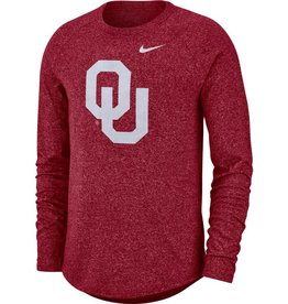 Nike Men's Nike OU Long-Sleeve Marled Raglan Tee