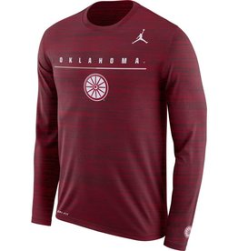 Jordan Men's Jordan Oklahoma Long-Sleeve Velocity Legend Travel Tee