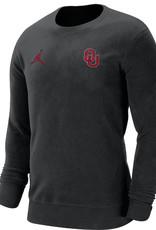 Jordan Men's Jordan OU Black Fleece Crew Neck Sweatshirt