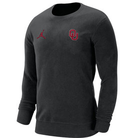 Jordan Men's Jordan OU Black Fleece Crew Neck Sweatshirt