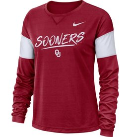 Nike Women's Nike Sooners Long-Sleeve Breathe Top