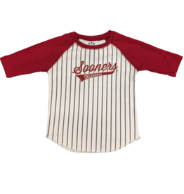 Little King Toddler Sooners Oklahoma 3/4 Sleeve Baseball Tee