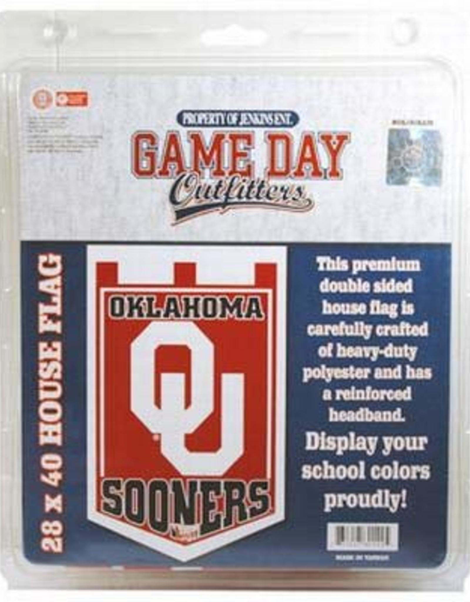 Game Day Outfitters Jenkins Oklahoma OU Sooners Garden Flag