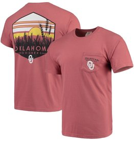 Comfort Colors Men's Crimson Comfort Colors Landscape Shield Tee