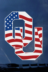 "Color Shock OU Waving Flag Auto Decal 4.7""x3.5"""