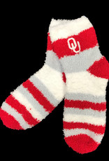 FBF FBF OU Rainbow Soft Fuzzy Sleep Sock (One Size)