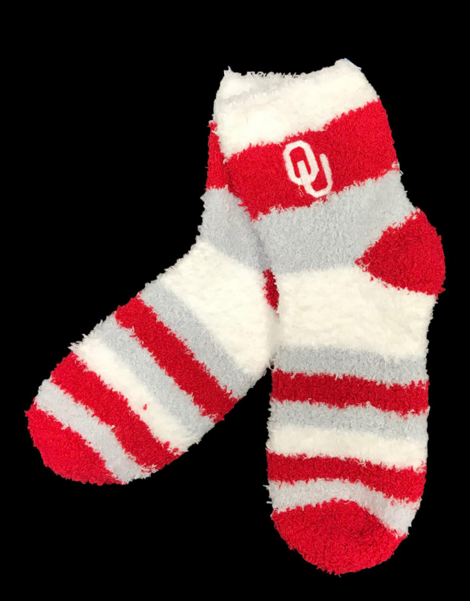 FBF FBF OU Rainbow Soft Fuzzy Sleep Sock (One Size)