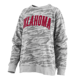 Pressbox Women's Camo L/S French Terry Crew