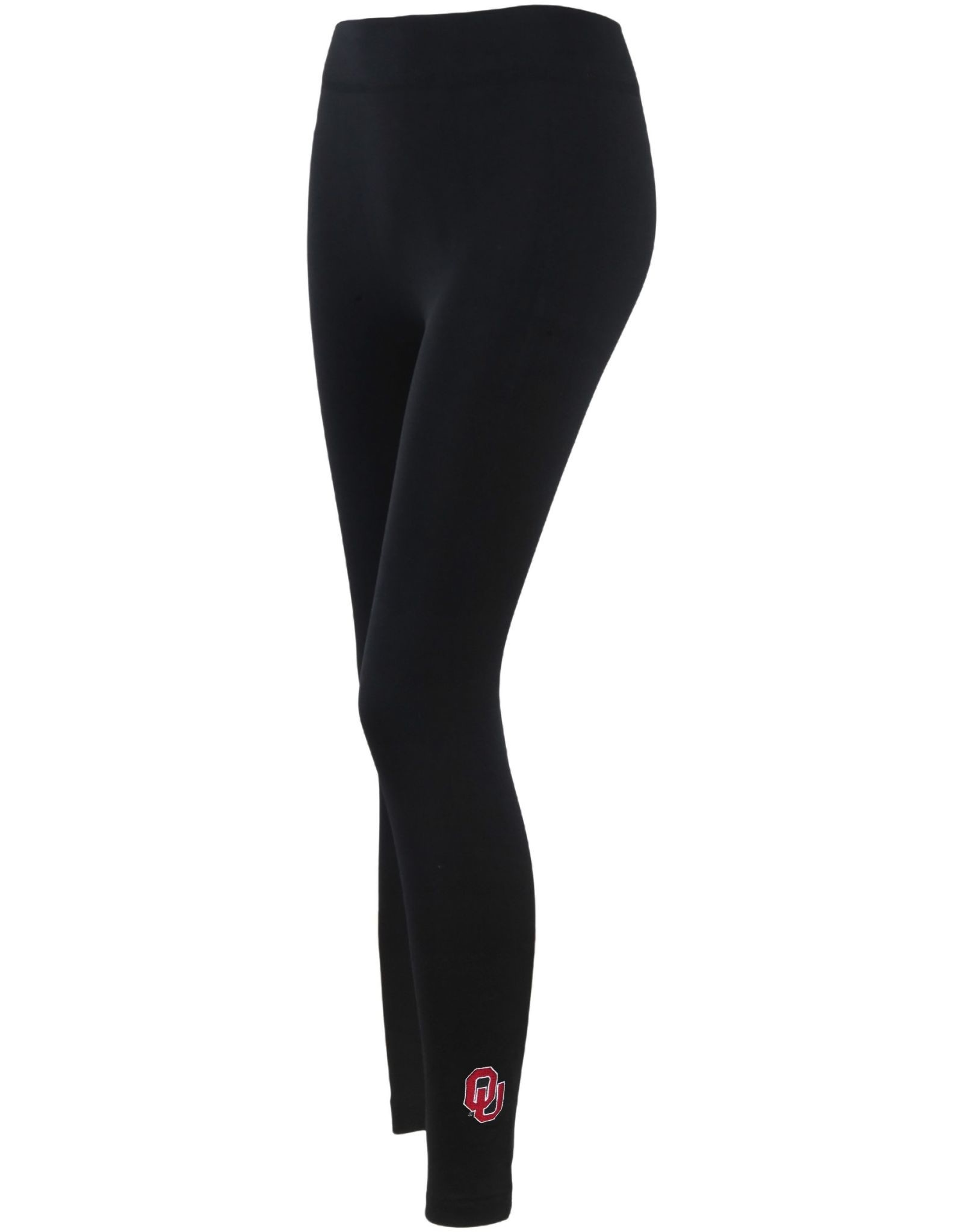 ZooZatz Embroidered OU Fleece Leggings-Black