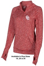 ZooZatz Women's Zoozatz Space-Dye Crimson 1/4 Zip
