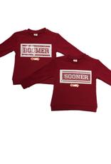 ZooZatz Girls Youth Inverse Boomer/Sooners Sweatshirt