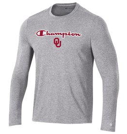 Champion Men's Champion OU Oxford Heather Field Day LS Tee