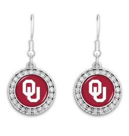 FTH FTH OU Crystal Round Earrings