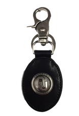 Zep-Pro OU Concho Black Leather Key Fob