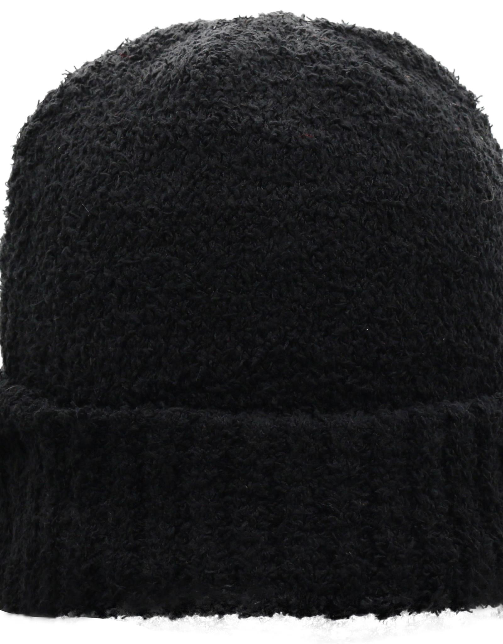 TOW TOW Marsh Black Fuzzy Knit Cap