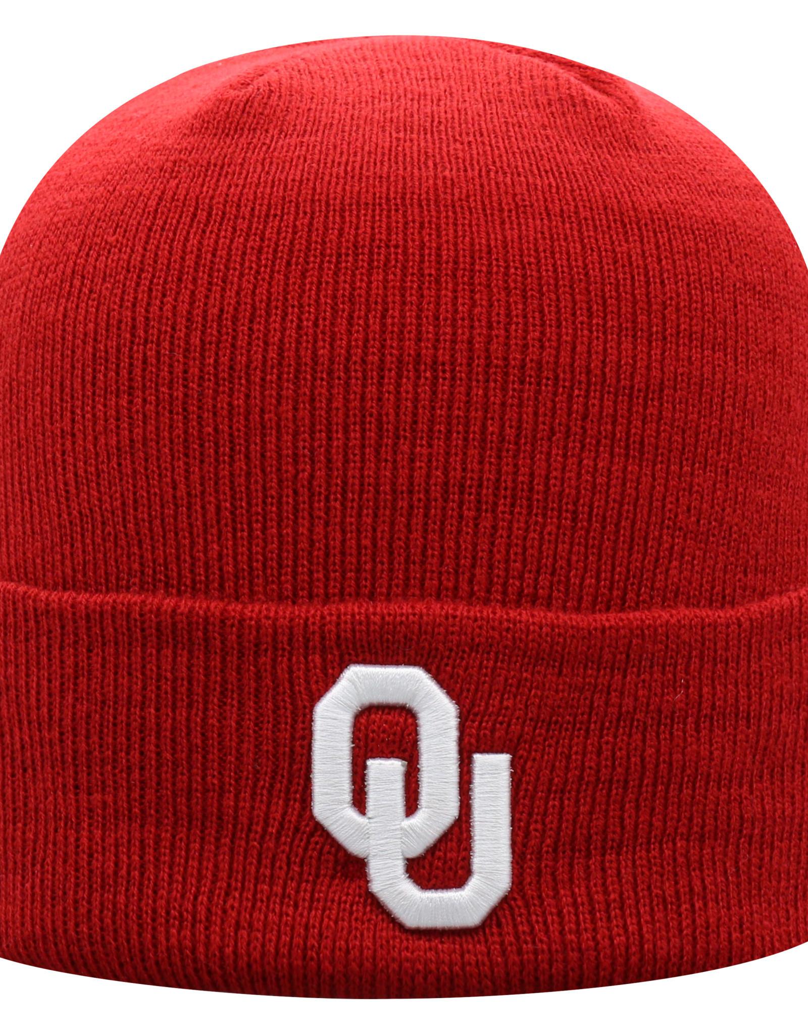 Top of the World TOW OU Schooner Crimson Cuff Knit Beanie