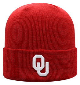 Top of the World TOW OU Schooner Crimson Cuff Knit Beanie
