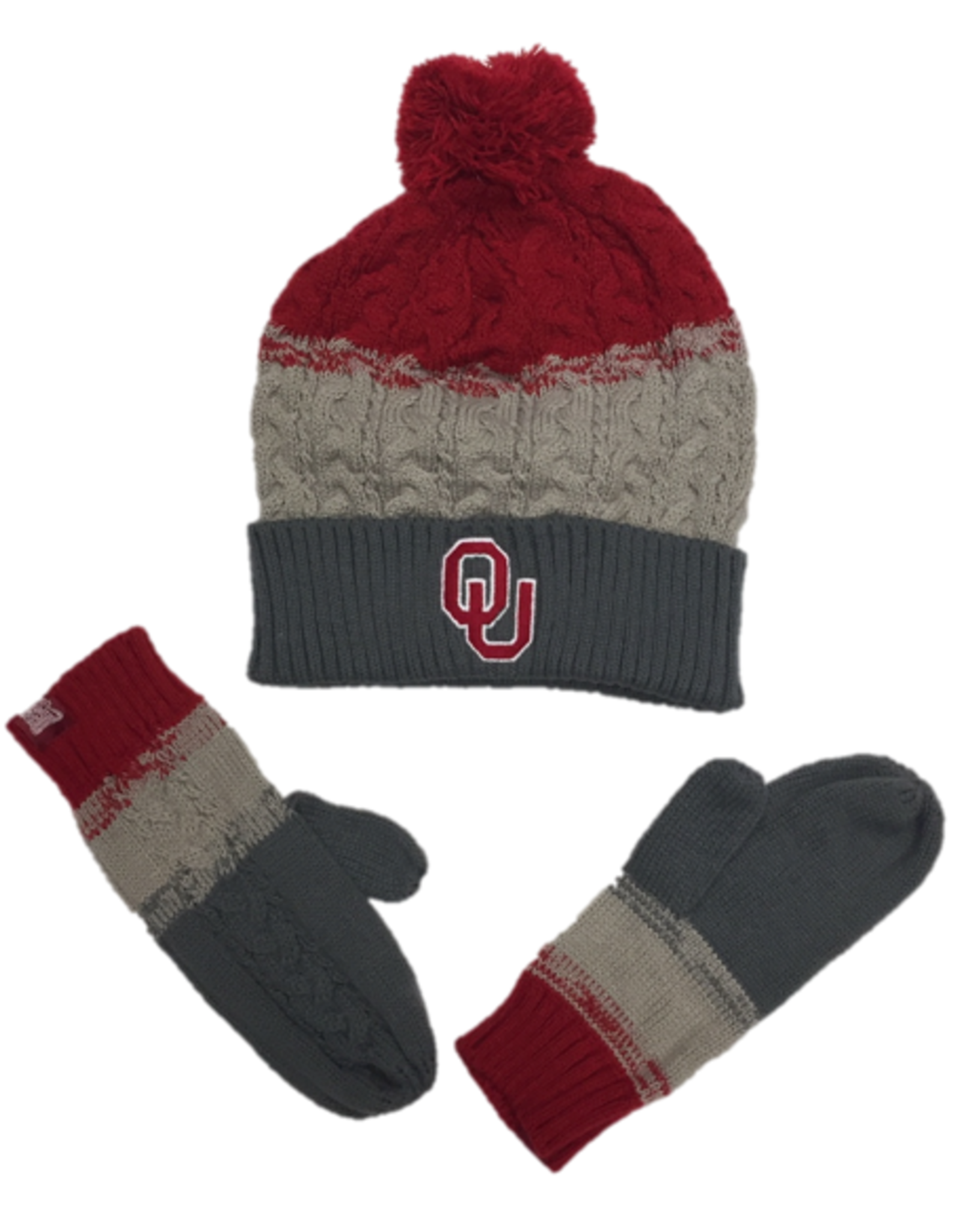 TOW TOW Dispresed Knit Cap & Gloves Combo