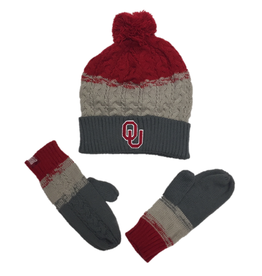 TOW TOW Dispesed Knit Cap & Gloves Combo