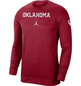 Jordan Men's Jordan Oklahoma Crimson Dri-Fit Spotlight L/S Top