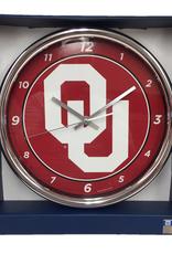 "WinCraft Wincraft OU Chrome Wall Clock (12"" dia.)"