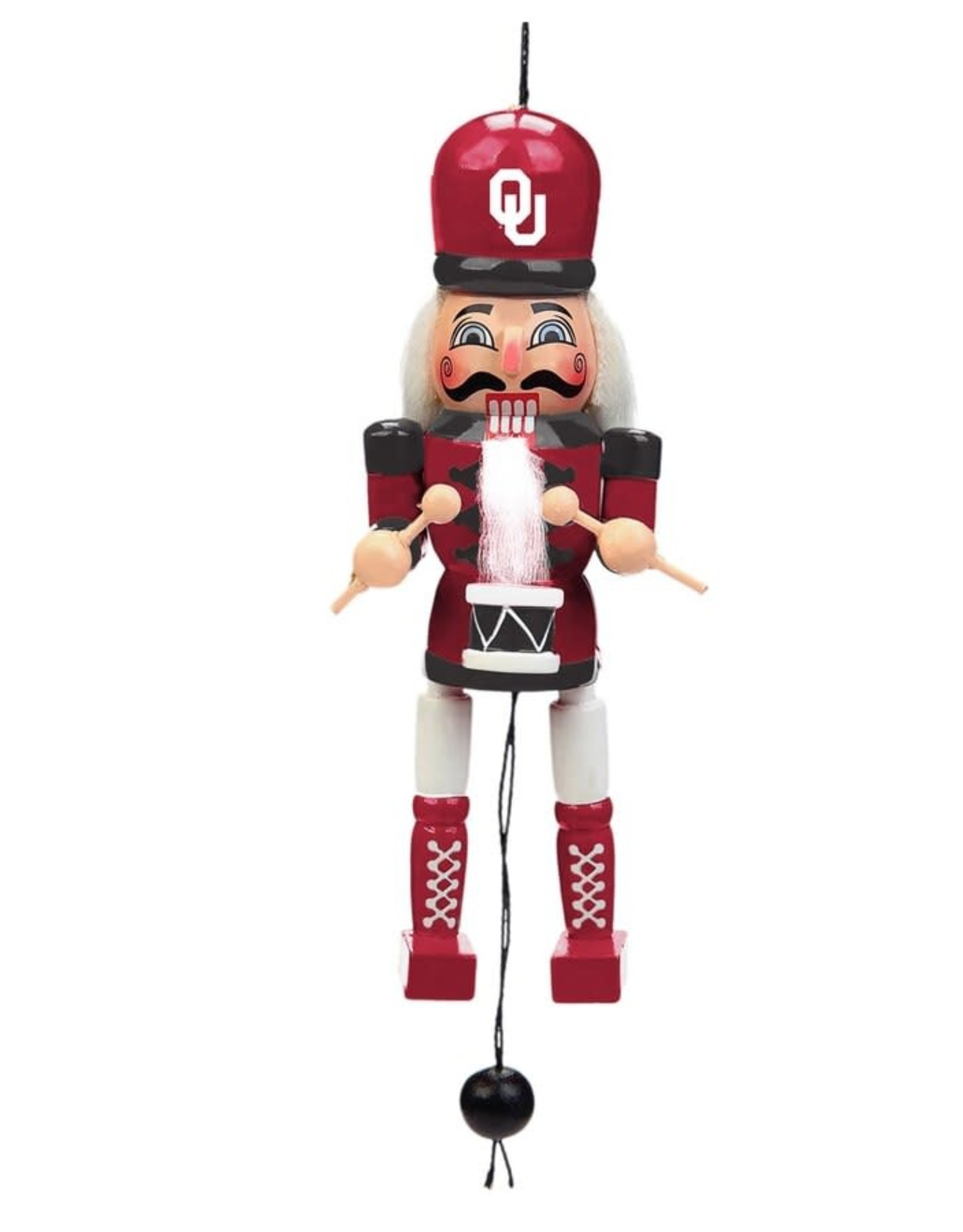 Forever Collectibles OU Pull String Nutcracker Ornament