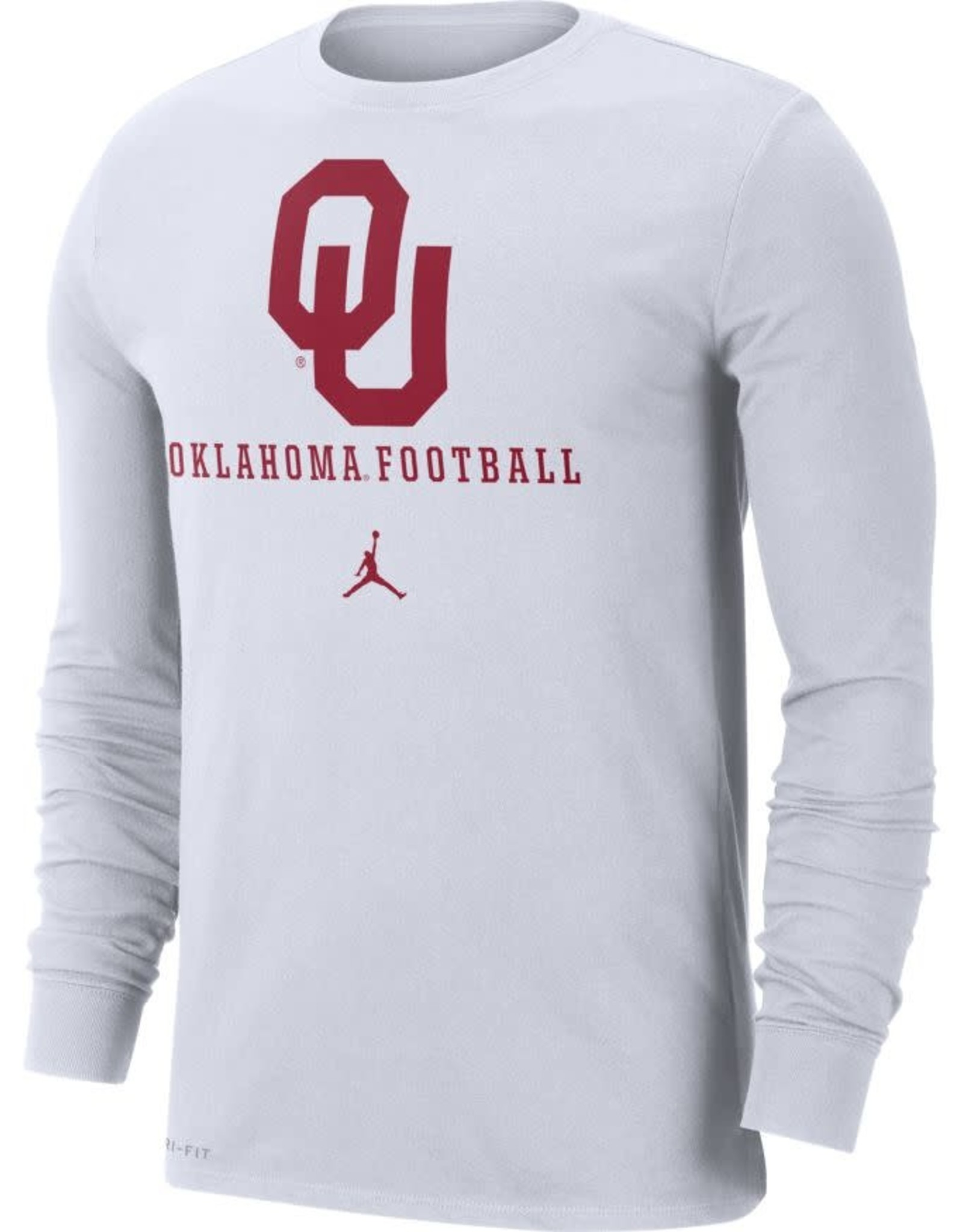 Jordan Men's Jordan OU Football DriFit Cotton Icon Wordmark L/S Tee