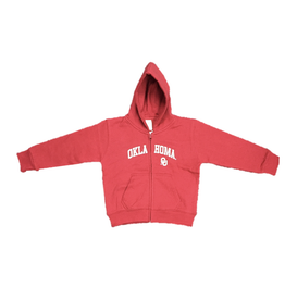 Little King Toddler Oklahoma OU Full Zip Hoody